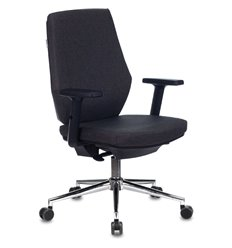 Кресло Бюрократ CH-545SL/1D/417-G для оператора, хром, ткань, цвет серый