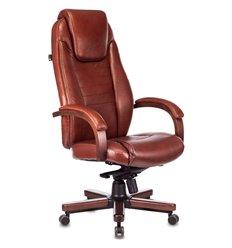 Кресло Бюрократ T-9923WALNUT/CHOK для руководителя, дерево, кожа, цвет светло-коричневый