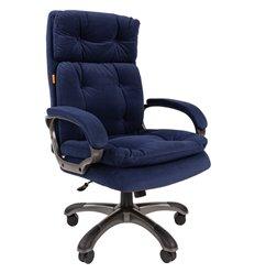 Кресло CHAIRMAN 442 ткань E-34 синий для руководителя