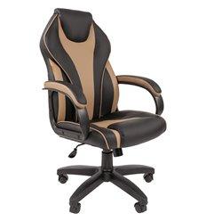 Кресло CHAIRMAN 299 экопремиум черный/бежевый для руководителя