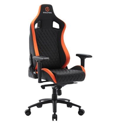 Кресло EVOLUTION OMEGA, геймерское, экокожа, цвет черный/оранжевый