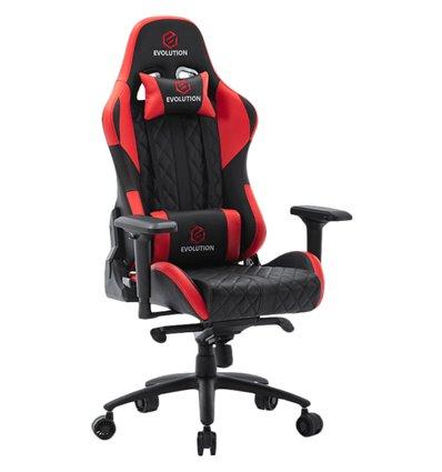 Кресло EVOLUTION RACER M, геймерское, экокожа, цвет черный/красный