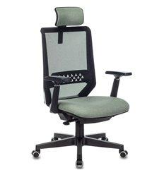 Бюрократ EXPERT GREEN, сетка/ткань, цвет черный/зеленый