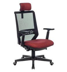 Бюрократ EXPERT RED, сетка/ткань, цвет черный/красный
