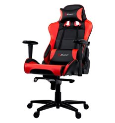 Arozzi VERONA XL+ - Red, экокожа, цвет черный/красный