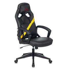 ZOMBIE DRIVER YEL, экокожа, цвет черный/желтый