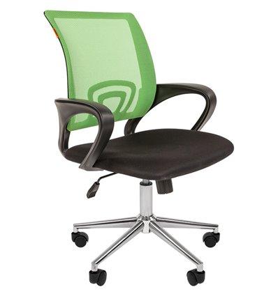 CHAIRMAN 696 CHROME TW светло-зеленый, сетка/ткань
