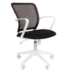 CHAIRMAN 698 White TW черный, белый пластик, сетка/ткань