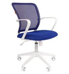 CHAIRMAN 698 White TW синий, белый пластик, сетка/ткань