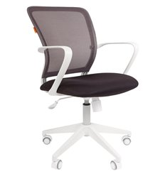CHAIRMAN 698 White TW серый, белый пластик, сетка/ткань