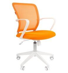 CHAIRMAN 698 White TW оранжевый, белый пластик, сетка/ткань
