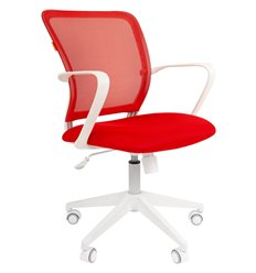 CHAIRMAN 698 White TW красный, белый пластик, сетка/ткань