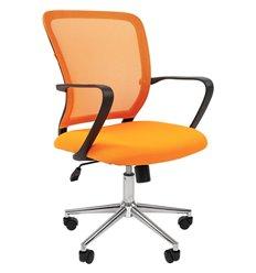 CHAIRMAN 698 CHROME TW-66 оранжевый, сетка/ткань