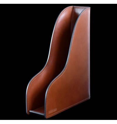 Лоток А4 вертикальный BUVARDO, ручной работы, кожа Full Grain