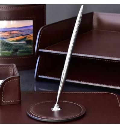 Подставка для одной ручки BUVARDO, ручной работы, кожа Full Grain/Cuoietto