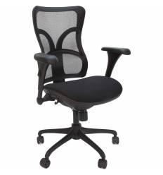 Кресло CHAIRMAN 730 для руководителя, сетка/ткань, цвет черный