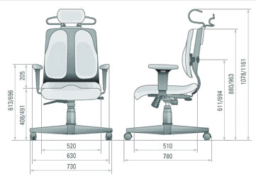 Размер кресла DUOREST Cabinet DR-150A
