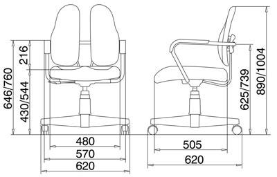 Размер кресла DUOREST Standart DR-260