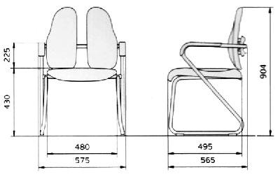 Размер стула DUOREST Seminar DR-730