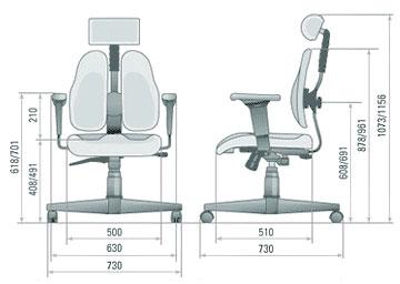 Размер кресла DUOREST Leaders DR-7500G