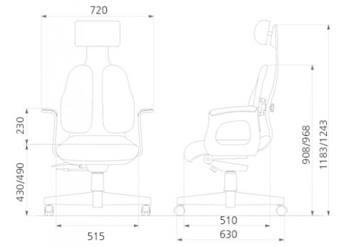 Размер кресла DUOREST Cabinet DD-130
