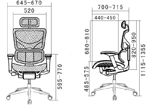 Размер кресла Expert Sail