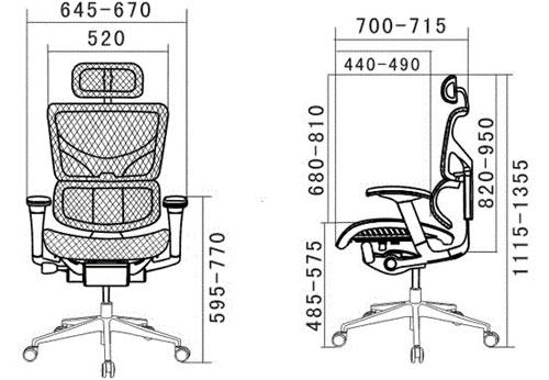 Размер кресла Expert Spring